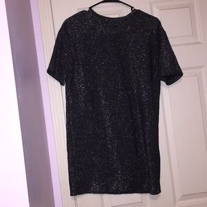 Zara sparkly black shift dress